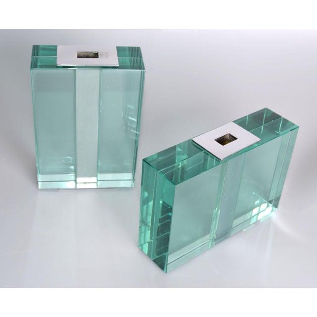 Pair of 1950s Fontana Arte Art Glass Vases For Sale - Image 10 of 10