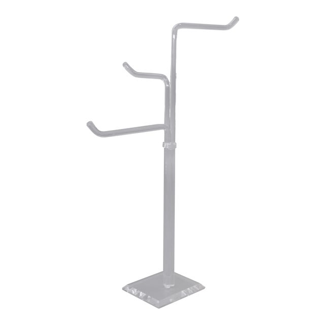 Mid-Century Modern Lucite Coat Rack, Stand, Clothes Tree Stand, Lucite Sculpture For Sale