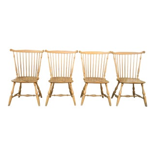 Barton Sharpe Distressed Wood Dining Chairs - Set of 4