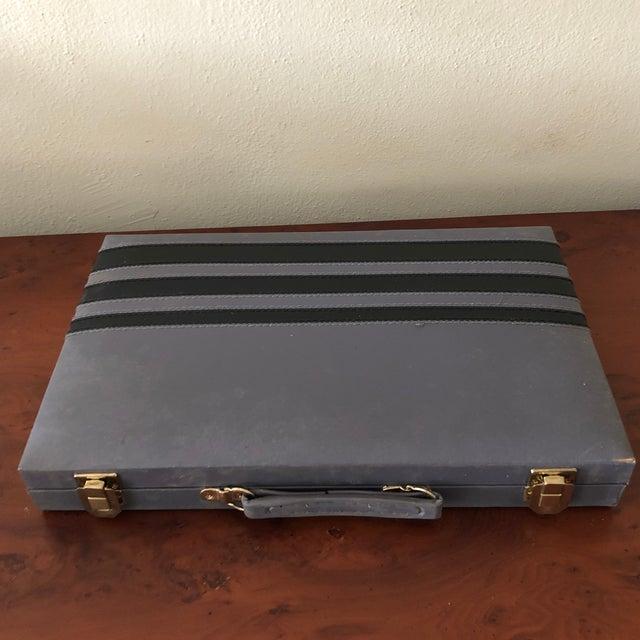 1970s Italian Leather Backgammon Set For Sale - Image 5 of 8