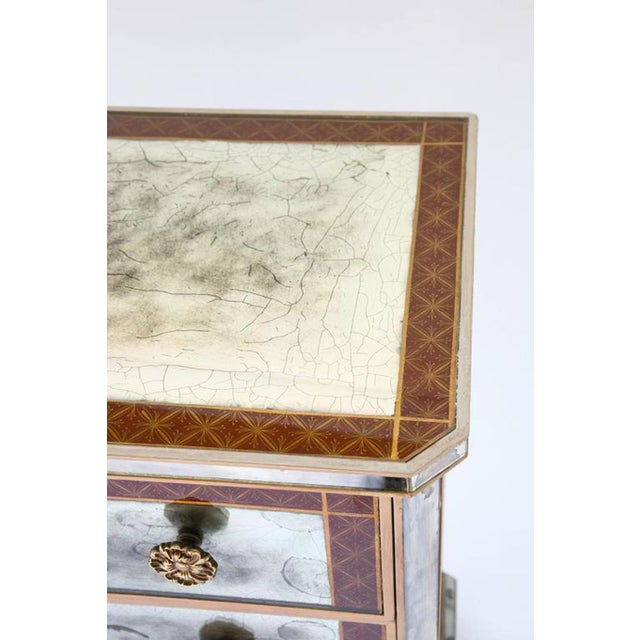 1940s Églomisé Mirrored Chest of Drawers - a Pair For Sale - Image 9 of 13