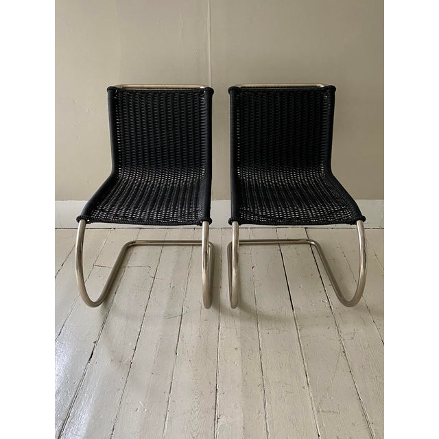 Knoll Mies Van Der Rohe Side Chairs- a Pair For Sale - Image 4 of 11