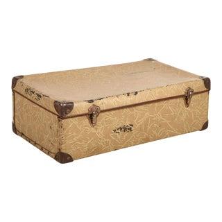Vintage Tan Suitcase For Sale