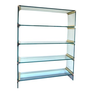 Pace Collection Style Brass and Glass Display Etagere after Leon Rosen For Sale