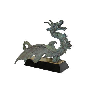 Pure Bronze Dragon Centerpiece