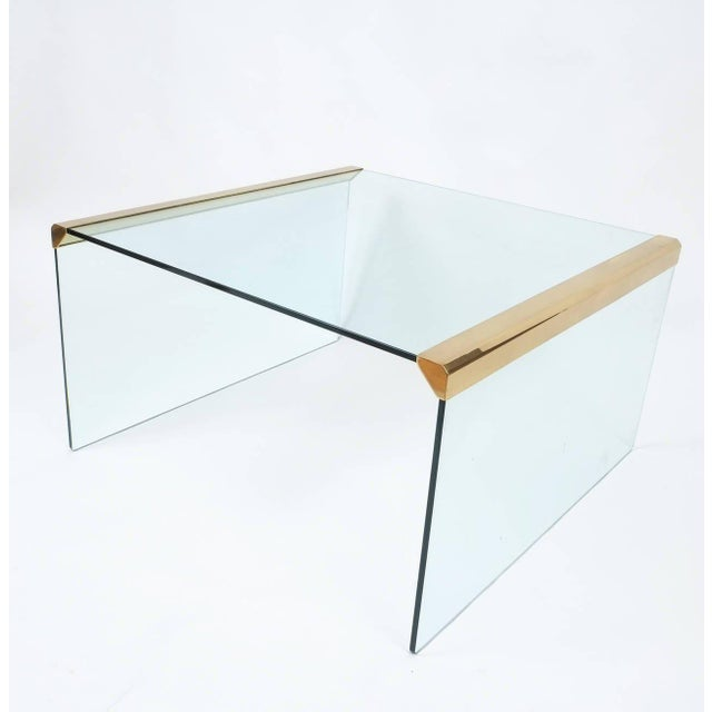 1970s Italian Clear Glass Coffee Table by Pierangelo Galotti for Galotti & Radice,1970 For Sale - Image 5 of 6