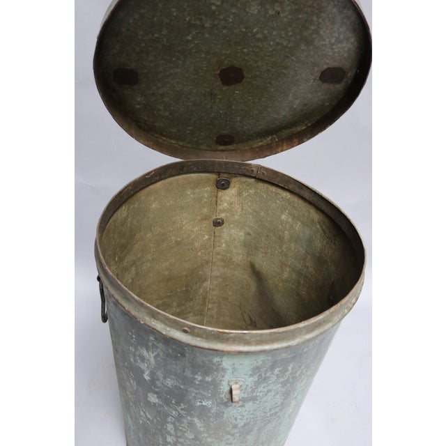 1920s 1920s Rustic Metal Container For Sale - Image 5 of 7