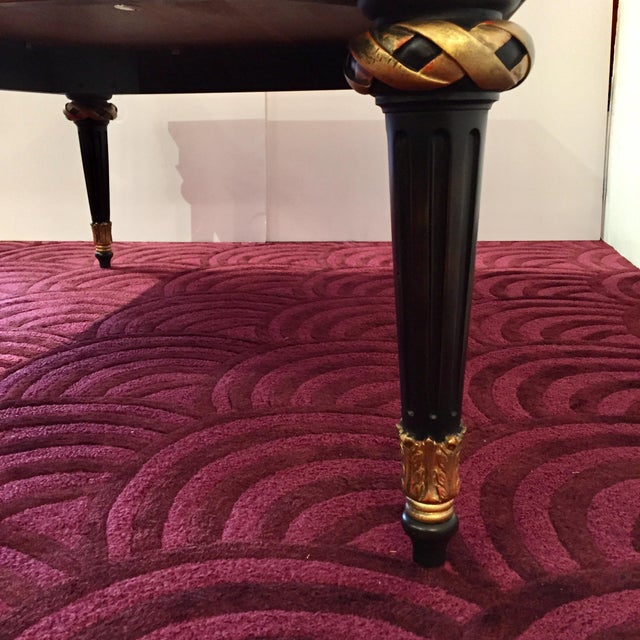 1980s Widdicomb Regency Mahogany Ebonized & Gilded Greek Key Coffee Table For Sale In Philadelphia - Image 6 of 11