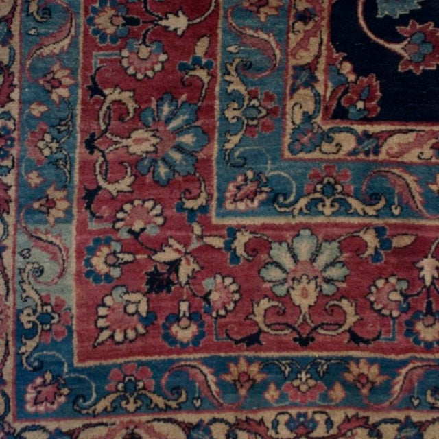 19th Century Yadz Carpet - 8′7″ × 11′ For Sale In Chicago - Image 6 of 6