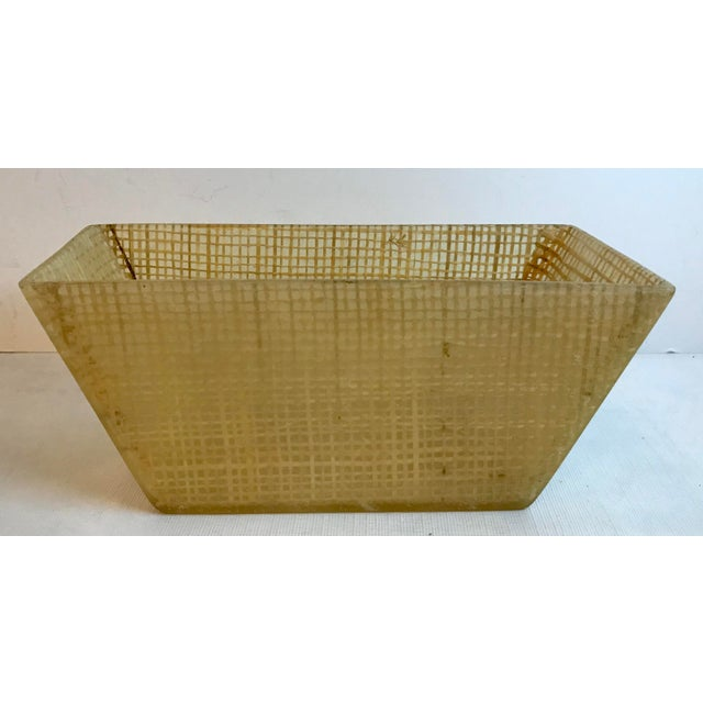 Vintage Mid Century Lucite and Twine Planter For Sale - Image 4 of 7