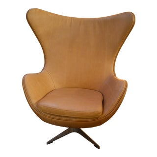 Vintage Egg Chair in the Style of Arne Jacobsen for Fritz Hansen For Sale