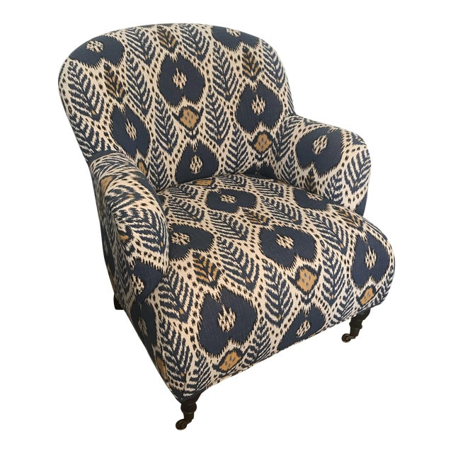 Custom Upholstered Arm Chair - Image 1 of 6