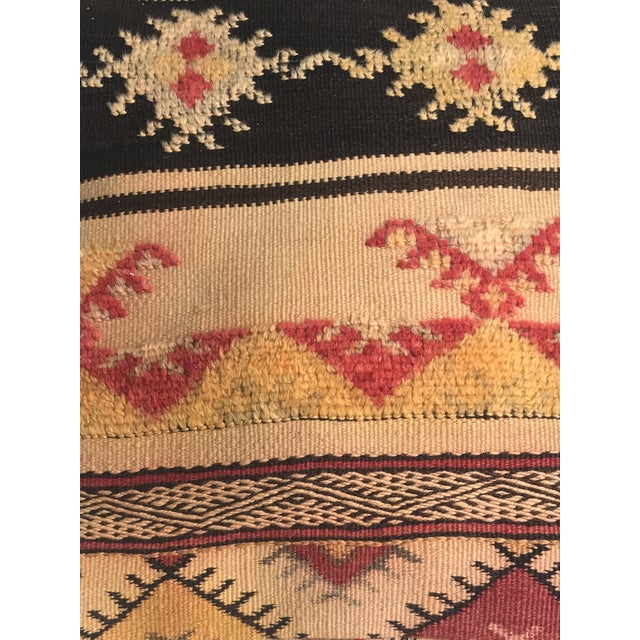 Moroccan Vintage Wool Pouf - Image 3 of 11