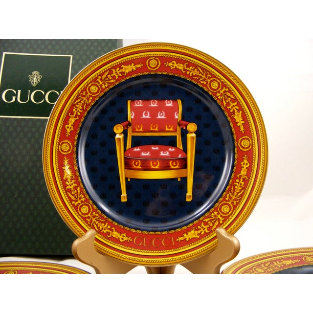 Gucci Porcelain Chair Plates - Set of 4 For Sale - Image 5 of 9