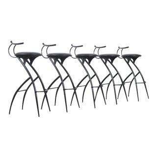 Postmodern Italian Bar Stools - Set of 5