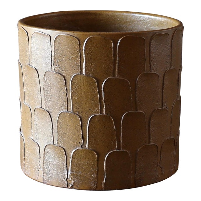 """David Cressey """"Leaf """" Pattern Planter for Architectural Pottery Circa 1965 For Sale"""