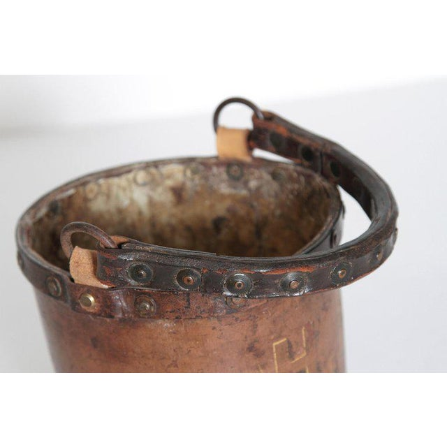 A 19th Century English Leather Fire Bucket For Sale - Image 4 of 13