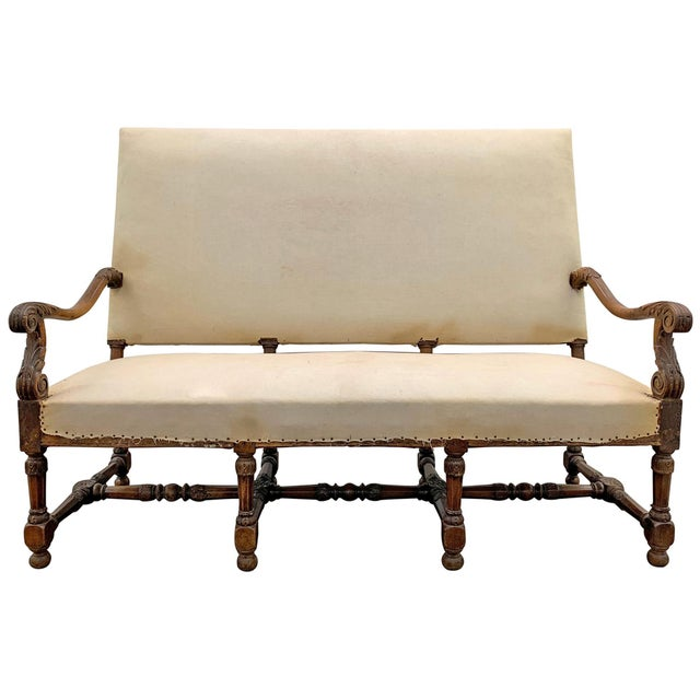 Louis XIV Settee For Sale - Image 11 of 11