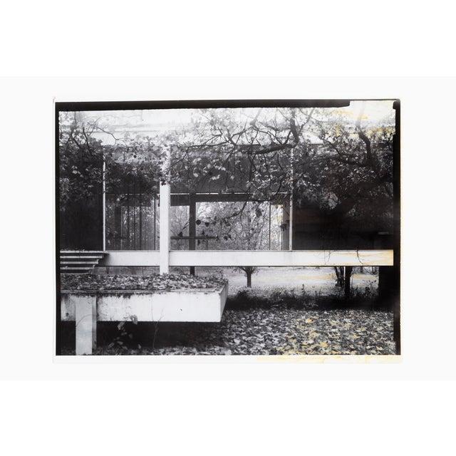 "Farnsworth House Early Decline #2 by Jim Zanzi, professor emeritus, SAIC gelatin silver print 17"" h x 22"" w proceeds from..."