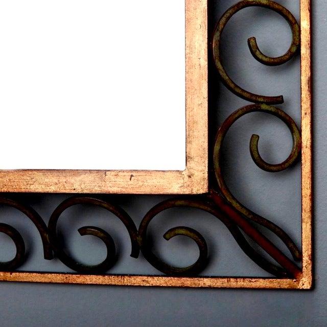French Art Deco Gilt Iron Framed Rectangular Mirror - Image 5 of 7