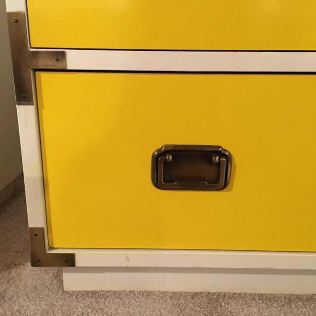 1970s Mid-Century Modern Campaign Nightstand-a Pair For Sale - Image 10 of 12