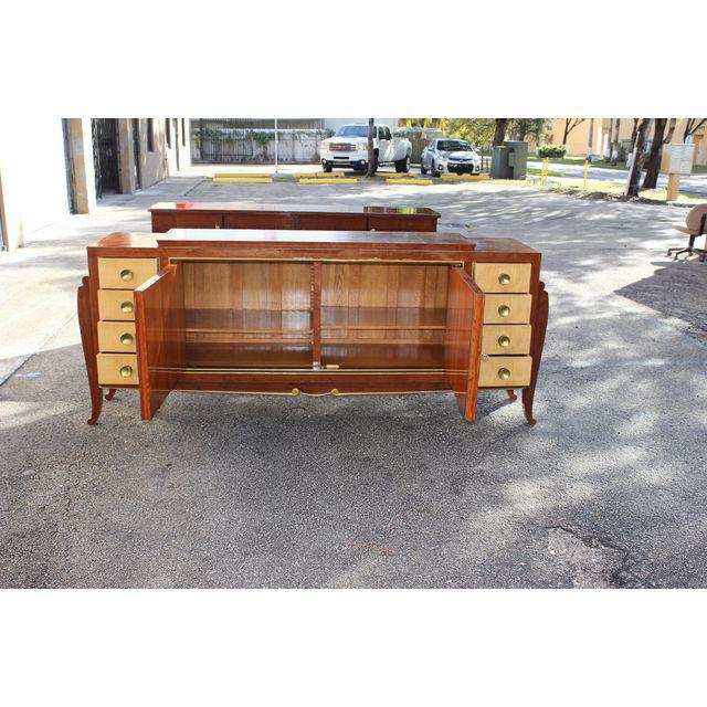 Spectacular French Art Deco Palisander And Sycamore Sideboard / Credenza Circa 1935s - Image 3 of 11