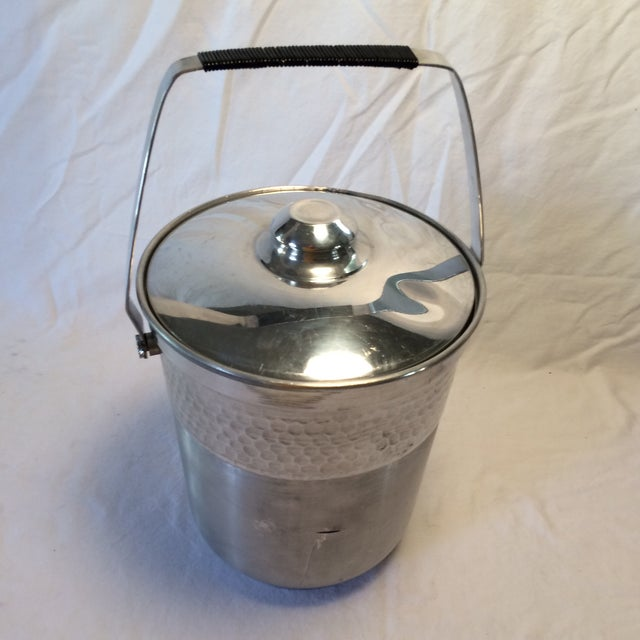 Vintage Italian Insulated Aluminum Ice Bucket by Nasco For Sale - Image 5 of 11