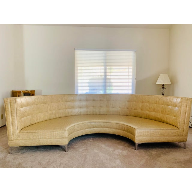 """Distinctive statement sofa, nicknamed """"Sunrise,"""" was displayed in West Hollywood living room gazing upon the downtown Los..."""