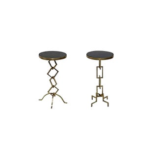 Contemporary End Table Set - a Pair For Sale