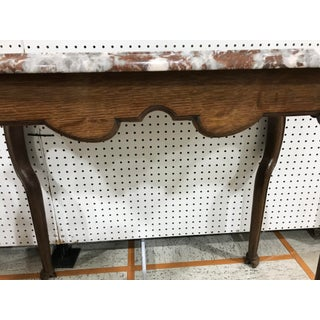 Portuguese Oak Marble Top Console Table Preview