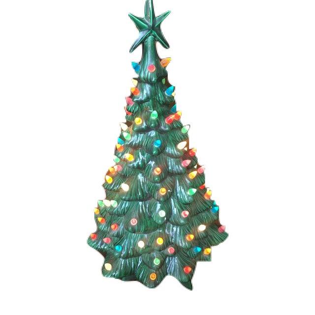 green ceramic light up christmas tree for sale image 8 of 10 - Ceramic Light Up Christmas Tree