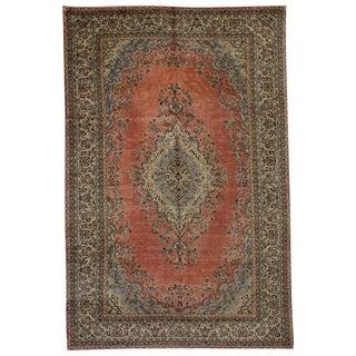 Vintage Persian Kasvin Hamadan Rug With Kerman Style - 10′4″ × 16′9″ For Sale
