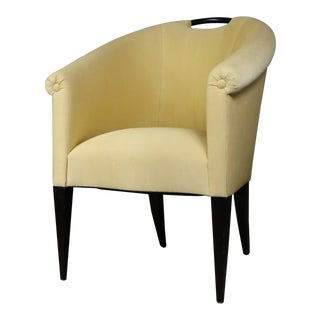 Donghia Delicate Barrel Shaped Arm Chair by John Hutton