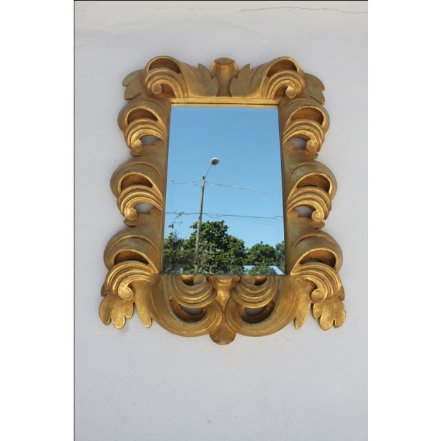 Dorothy Draper-Style Carved Wall Mirror - Image 3 of 11