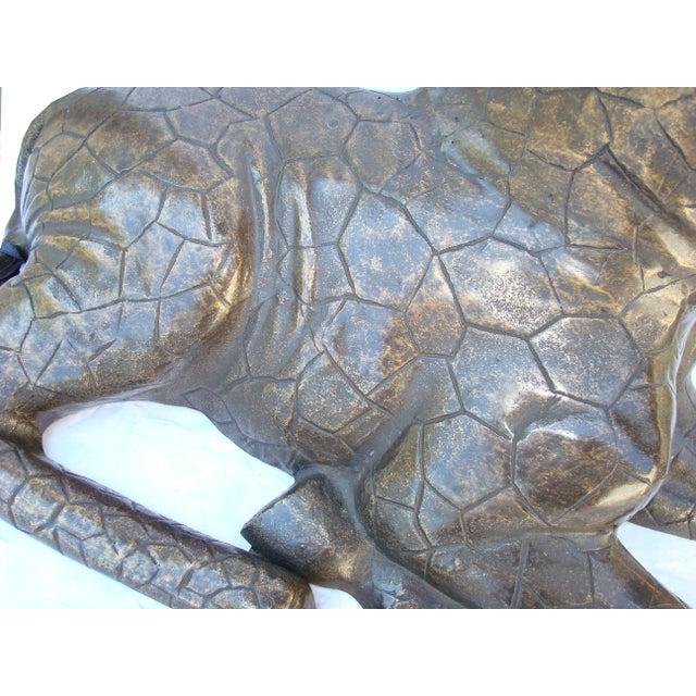 Large Bronze Giraffe - Image 4 of 4