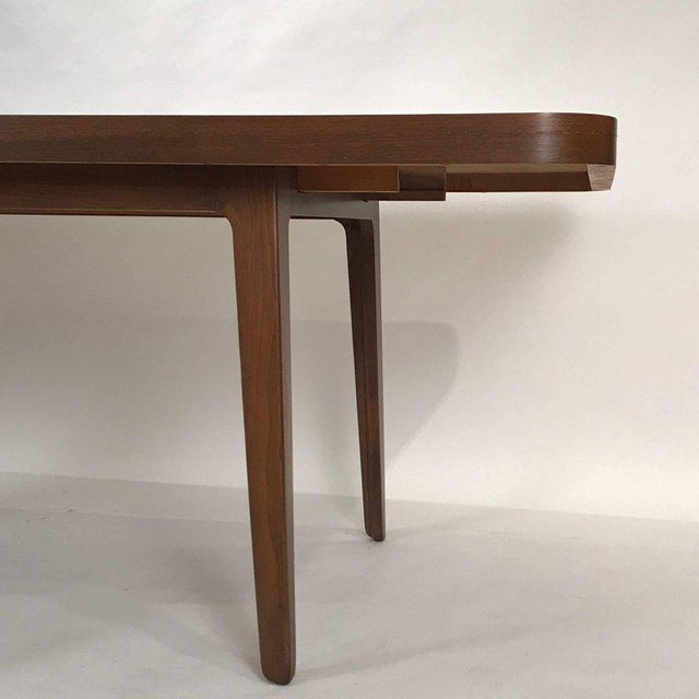 1960s Stunning Midcentury Edward Wormley for Drexel Walnut Extension Dining Table For Sale - Image 5 of 11