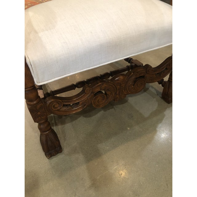 Late 19th Century Antique French Arm Chair For Sale - Image 4 of 6