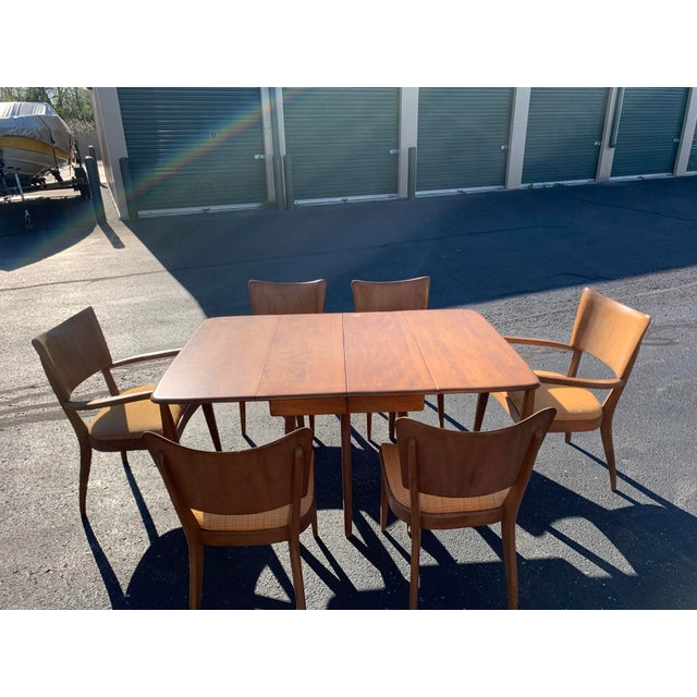 Heywood-Wakefield Vintage Mid-Century Heywood Wakefield Table and Chair Set For Sale - Image 4 of 4