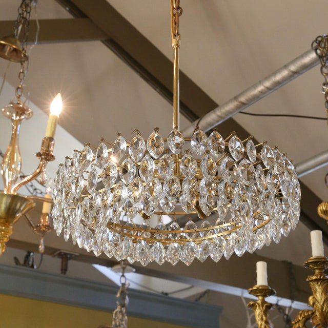 Vintage Austrian Palwa Crystal Chandelier For Sale In Houston - Image 6 of 9