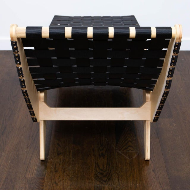Black Klaus Grabe Style Chaise Longue For Sale - Image 8 of 11