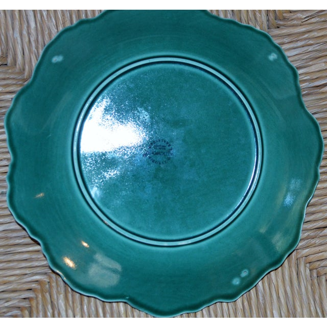 1950s English Traditional Wedgwood Majolica Plates - Set of 5 For Sale - Image 4 of 9