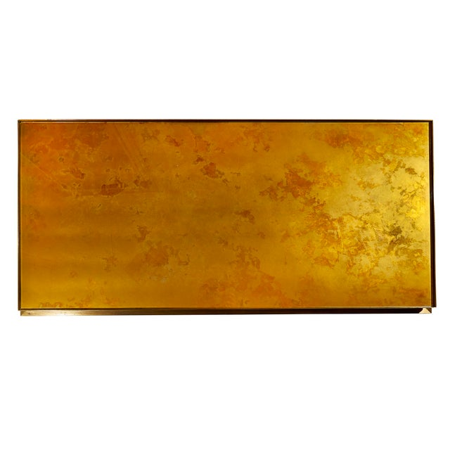 Maison Jansen Maison Jansen Brass Lacquered Coffee Table For Sale - Image 4 of 6