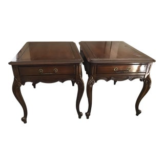 French Provincial Wooden End Tables the Rockwood Collection by Weiman - a Pair For Sale