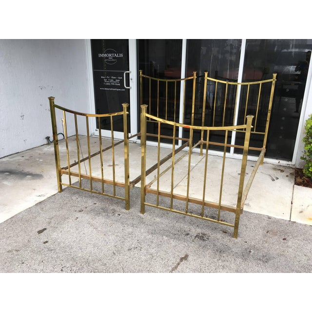 Art Deco Brass Twin Bed French Single, Circa 1930 For Sale - Image 4 of 10