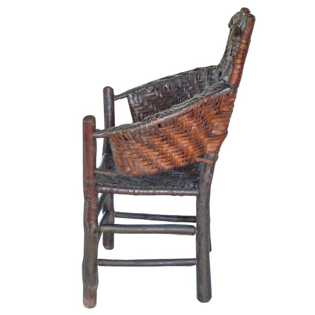 Adirondack Old Hickory Armchair For Sale - Image 3 of 10