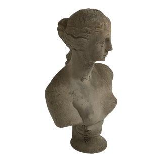 Cast Concrete Female Bust