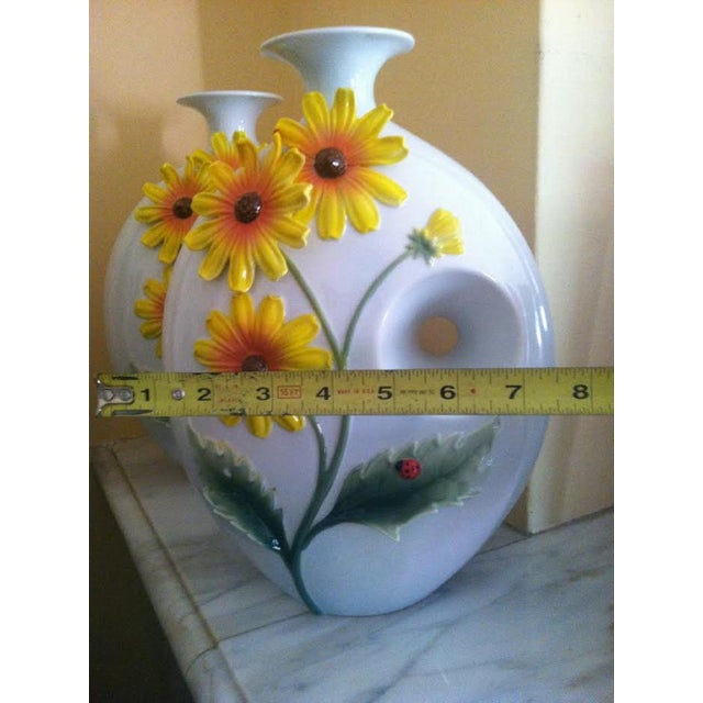 Mid-Century Sunflower Vases - Pair - Image 5 of 5