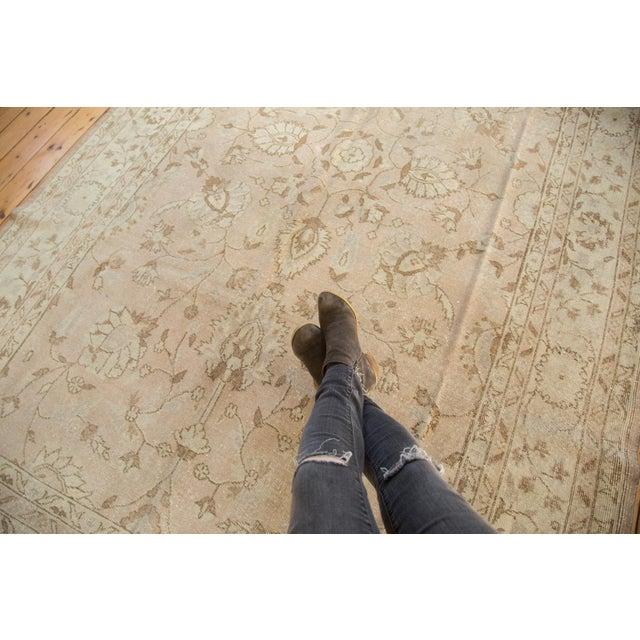 "Vintage Distressed Oushak Carpet - 7'2"" x 12'1"" For Sale - Image 4 of 10"