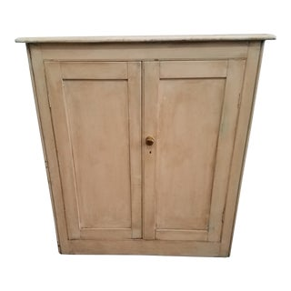 Antique English Painted Cupboard For Sale