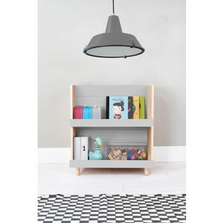 "Minimo Modern Kids 31"" Bookcase in Birch With Gray Finish Preview"